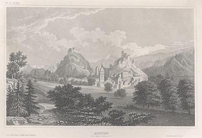 Sitten in der Schweiz, Meyer, oceloryt, 1850