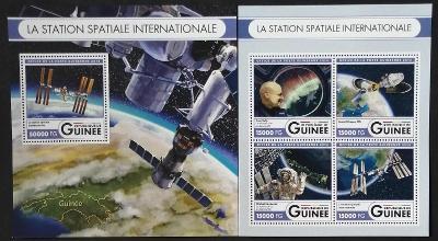 Guinea 2016 Mi.12106-9+Bl.2717 44€ Mezinárodní vesmírná stanice, ISS