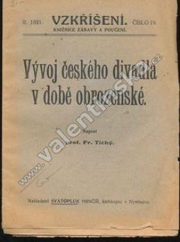 Vývoj českého divadla v době obrozenské