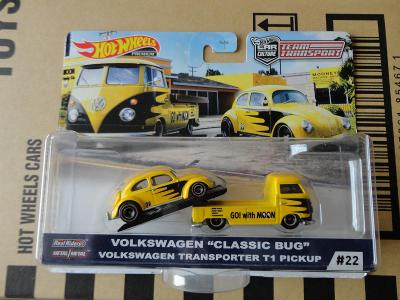 Hot Wheels Team Transport VW Classic Bug/VW Transporter T1.Rozbaleno.