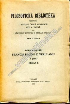 Francis Bacon z Verulamu a jeho essaye