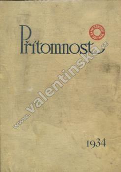 Časopis Přítomnost, komplet ročník XI. (1934)