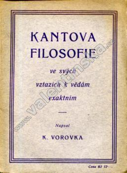 Kantova filosofie ve svých vztazích k vědám..