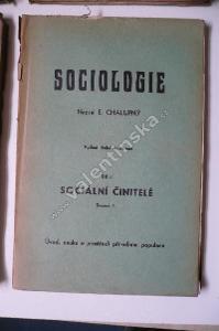 Sociologie III, 1 - 1 Část úvodní a nauka o činite