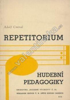 Repetitorium hudební pedagogiky. Podpis autora !