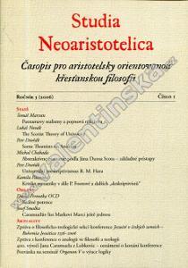 Studia Neoaristotelica ročník 3 (2006)