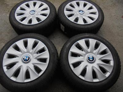 205 55 16 zimní Dunlop+16 plech BMW 1, 3, 5x 120mm, ET 40, 7J, 4kusy