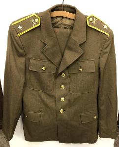 Stará vojenská / policejní uniforma vč kalhot - armáda, policie, voják
