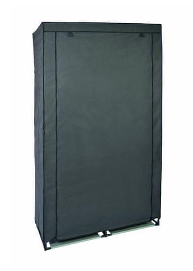 TimeLife Šatní skříň plátno 169x88x46 cm šedá