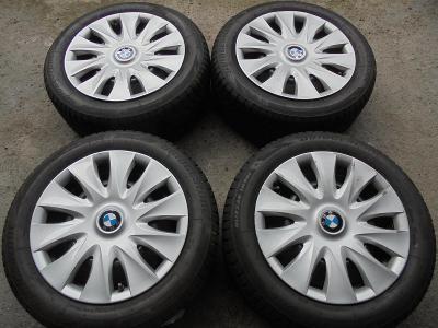 205 55 16 zimní Bridgestone+16 plech BMW 1, 3, 5x 120mm, ET 40, 4kusy