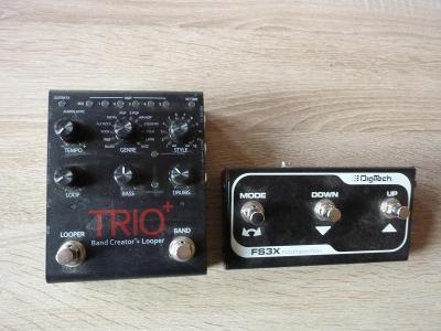 Trio+ s ovládacím pedálem Digitech FS3X