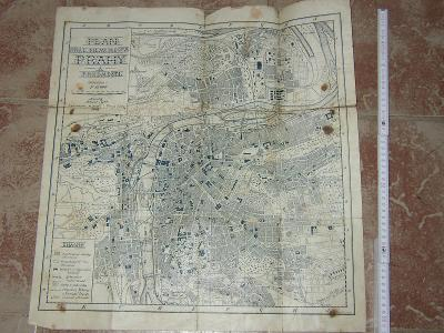 stará mapa- Praha a předměstí 1908