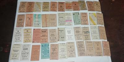 staré jízdenky ČSD 100ks, opakovaná aukce