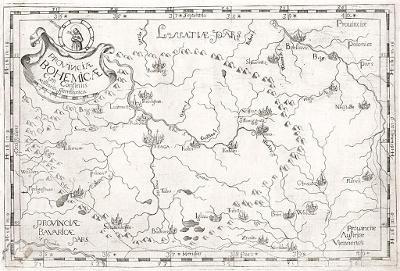 Montecaliero.: Provinciae Bohemicae, mědiryt, 1712