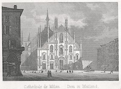 Milano Dom, oceloryt, (1840)