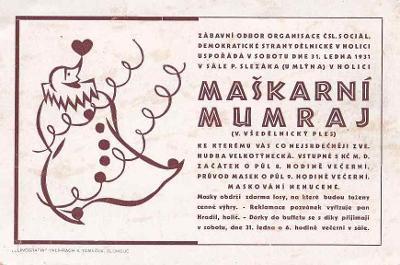 HOLICE - MAŠKARNÍ MUMRAJ -54-ZY124