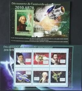 Guinea 2010 Mi.7641-6+Bl.1843 22€ Objev asteroidu AB78, vesmír