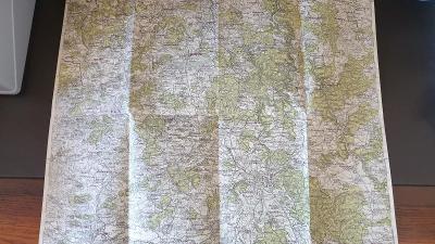 Protektorátní mapa 1939/1945-Písek-Strakonice-Mirotice-Blatná-Dmyštice