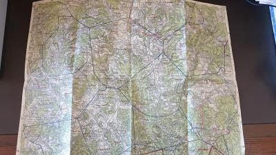 Protektorátní mapa 1939/1945-Tišnov-Blansko-Boskovice-Kuřim-Doubravice