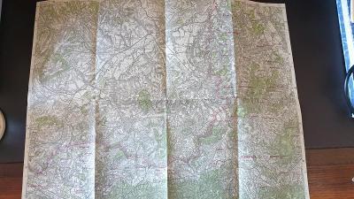 Protektorátní mapa 1939/1945-Fulnek-N.Jičín-Příbor-Brušperk-Paskov