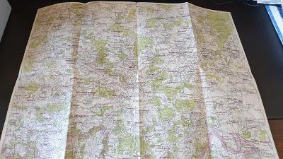 Protektorátní mapa 1939/1945-Vodňany-Volyně-Prachatice-Netolice