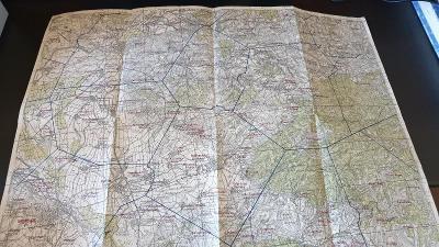 Protektorátní mapa 1939/1945-Přerov-Kroměříž-Holešov-Kelč-Troubky