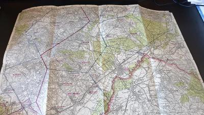 Protektorátní mapa 1939/1945-Hodonín-Strážnice-Čejkovice-Kobylí-Bzenec