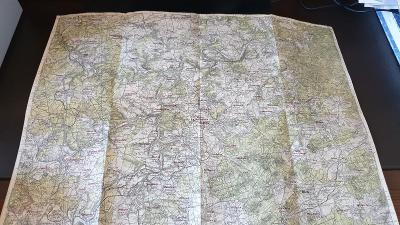 Protektorátní mapa 1939/1945-Královice-Plzeň-Radnice-Kyšice-Plasy