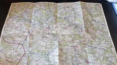 Protektorátní mapa 1939/1945-Vel.Meziříčí-Vel.Bítes-Tasov-Radostín