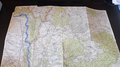 Protektorátní mapa 1939/1945-Lanžhot-Šaštín-Gbely-Kúty-Kostice