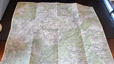 Protektorátní mapa 1939/1945-Beroun-Dobříš-Hořovice-Hostomice-Kytín