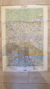 Protektorátní mapa 1939/1945-Liberec-Turnov-Semily-Železný Brod