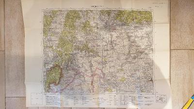 Protektorátní mapa 1939/1945-Brno-Modřice-Zbyšov-Šlapanice-Domašov