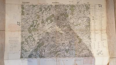 Protektorátní mapa 1939/1945-Horaždovice-Sudety-Šumava-Kašejovice