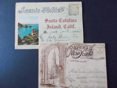 Obálka dopis pohlednice Amerika Californie New York