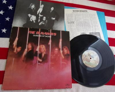 💥 LP: THE RUNAWAYS - QUEENS OF NOISE, original 1st pressing USA 1977