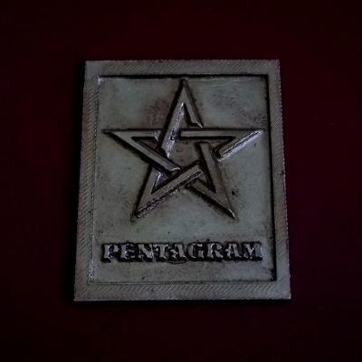 Velká Plaketa - PENTAGRAM - 100x80mm , Znamení ,Znak, Medaile