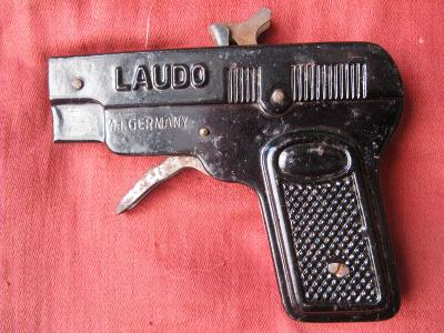 plechová pistole - kapslovka LAUDO - DRGM - Germany