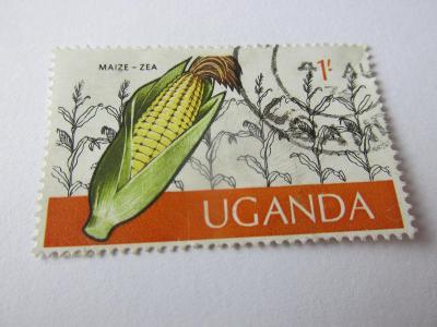 Prodávám známky Uganda 1975, Kukuřice /Zemědělství/