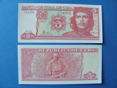 3 Pesos 2004 Cuba P127 - UNC -  /H137/