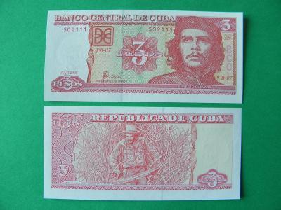 3 Pesos 2005 Cuba - P127b - UNC -  /H138/