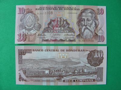 10 Lempiras 6.5.2010 Honduras - P86e - UNC - /H141/