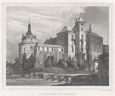 Jindřichův Hradec, Lange, oceloryt, 1842