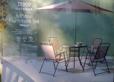Zahradní nábytek Hawaii , skládací židle, stůl tvrzené sklo, slunečník