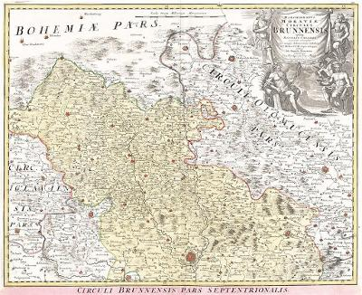 Homann J.B.: Kraj Brněnský sever, mědiryt, 1720