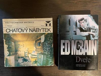 Dvě knihy Ed Mcbain Dveře + L. Mašek Chatový nábytek