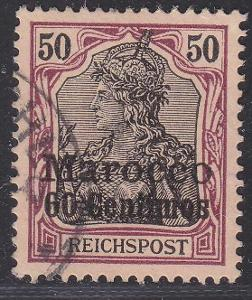Deutsche Auslandpostämter MAROKO MiNr 14o