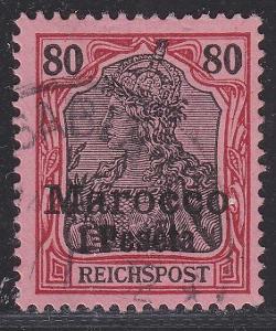 Deutsche Auslandpostämter MAROKO MiNr 15o CASABLANCA
