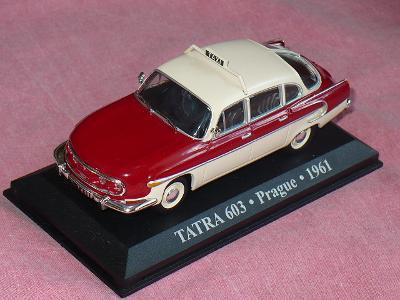 Raritní model TATRA 603 Taxi Praha bicolor, Ixo-Altaya 1/43
