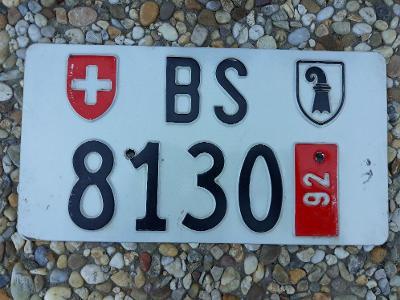 Originál SPZ Švýcarsko